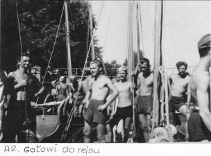 Kurs Ligi Morskiej Mikołajki 1951.
