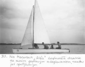 """Nasza pierwsza łódka """"Alfa"""" `52."""