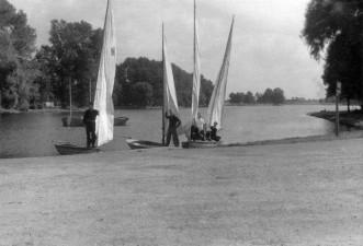Przystań w Parku 1-go Maja 1956 r.