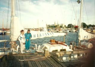 Rejs w 1995 na s/y Śniadecki.