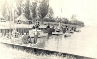 Ośrodek żeglarski w Suchaczu 1957.