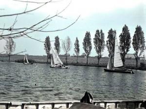 Spiętrzenie rzeki Jasień maj 1951.